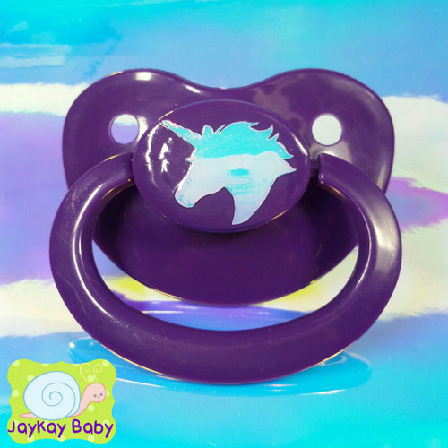 Unicorn Opal Holographic Adult Pacifier