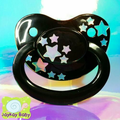 Starlight Opal Holographic Adult Pacifier