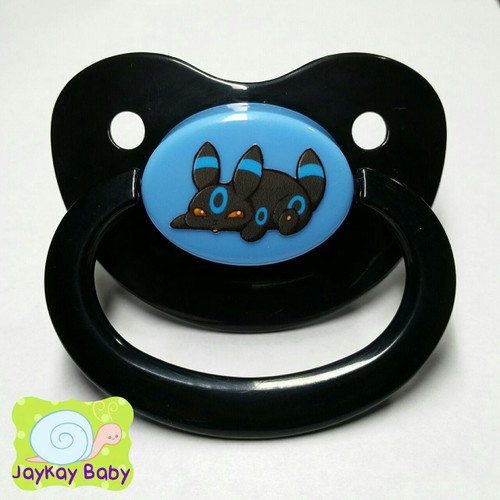 Shiny Umbreon Poof Printed Vinyl Adult Pacifier
