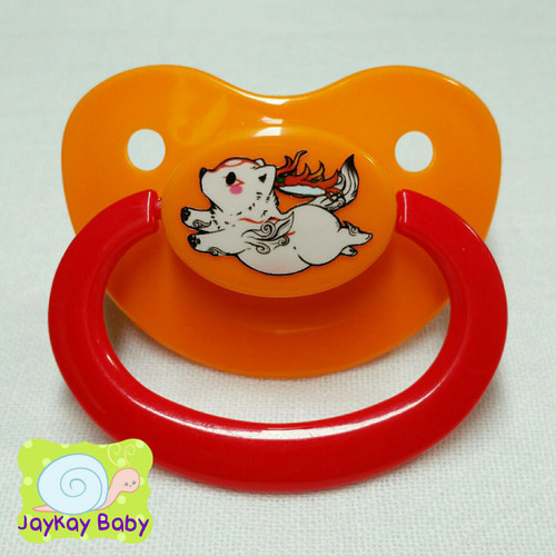 Ammy Poof Printed Vinyl Adult Pacifier