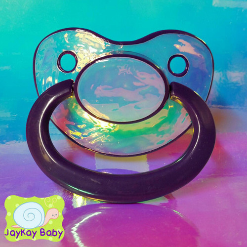 Full Opal Holographic Adult Pacifier
