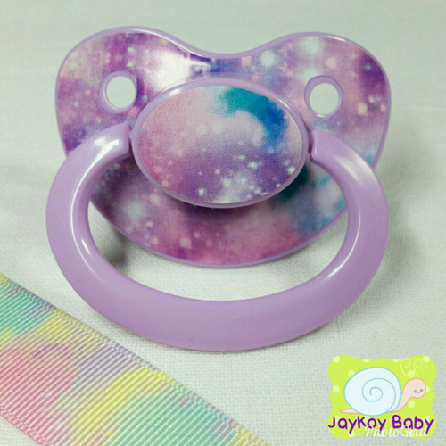 Full Pastel Galaxy Adult Pacifier