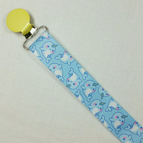 Baby Narwhal Adult Pacifier Clip