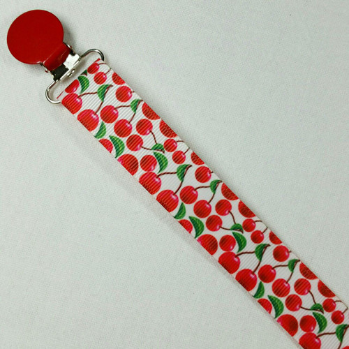 Cherry Adult Pacifier Clip