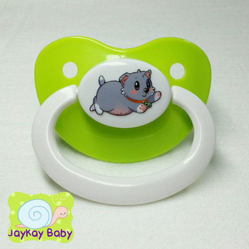 Rocky Newborn Poof Printed Vinyl Adult Pacifier