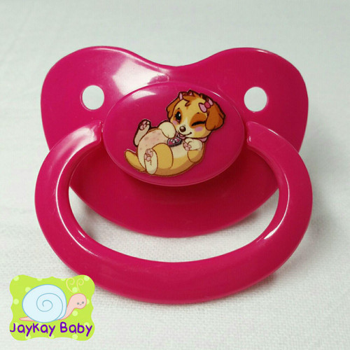 Skye Newborn Poof Printed Vinyl Adult Pacifier