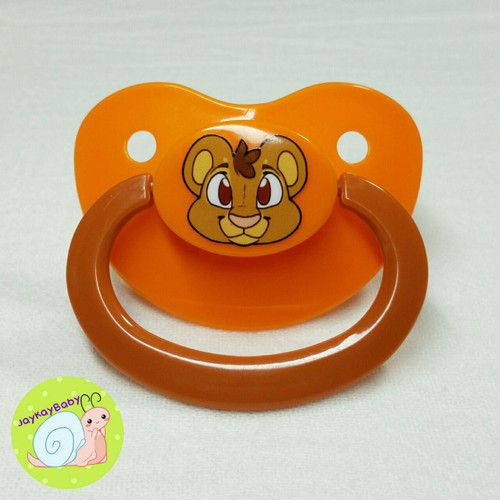 Lion Printed Vinyl Adult Pacifier