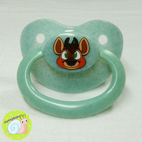 Buck Printed Vinyl Adult Pacifier