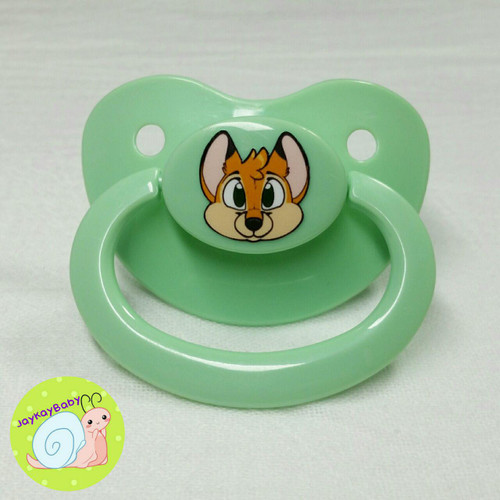 Fox Printed Vinyl Adult Pacifier