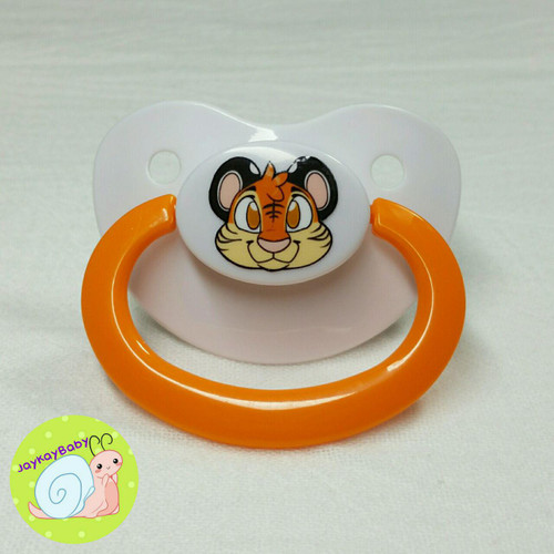 Tiger Printed Vinyl Adult Pacifier