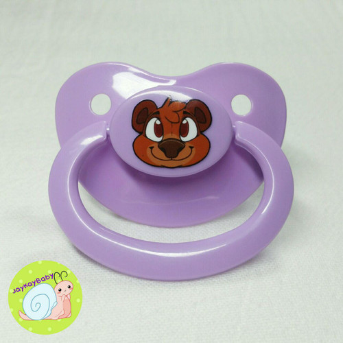 Bear Printed Vinyl Adult Pacifier