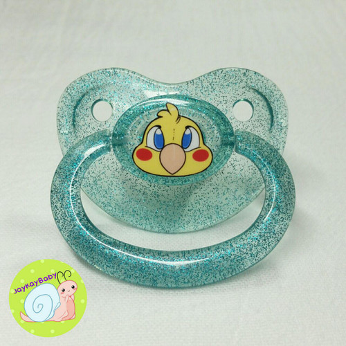 Bird Printed Vinyl Adult Pacifier
