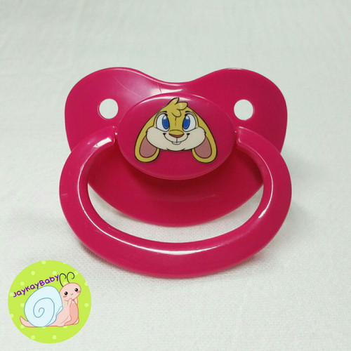 Bunny Printed Vinyl Adult Pacifier