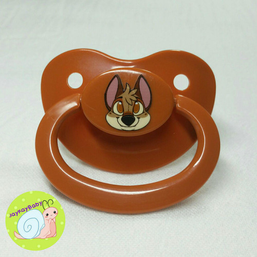 Coyote Printed Vinyl Adult Pacifier