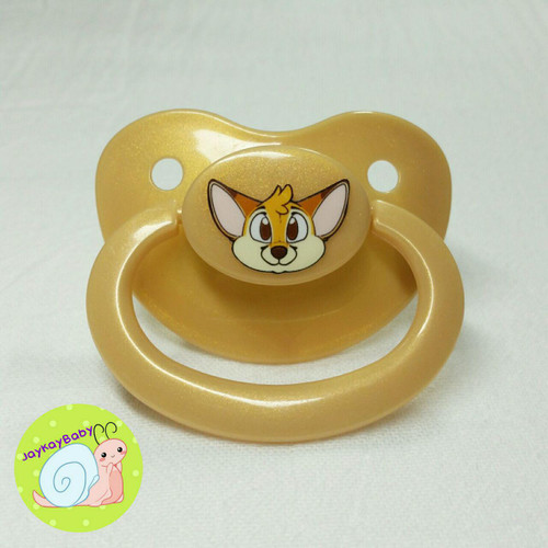 Fennec Printed Vinyl Adult Pacifier