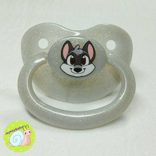 Raccoon Printed Vinyl Adult Pacifier