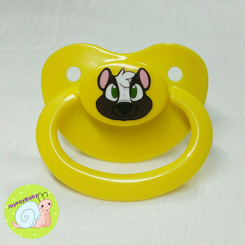 Skunk Printed Vinyl Adult Pacifier