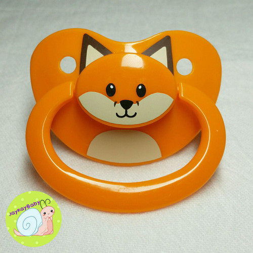 Fox Button Face Adult Pacifier
