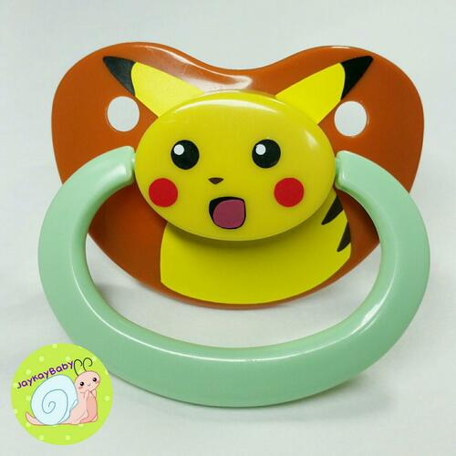 Pikachu Meme Themed Adult Pacifier