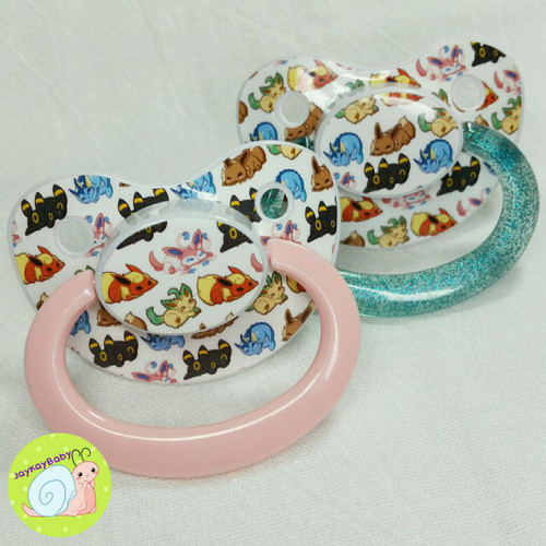 Full Eeveelution Poof Printed Vinyl Adult Pacifier