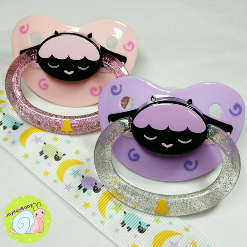 Sheep Button Face Adult Pacifier