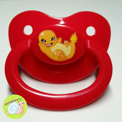 Charmander Poof Printed Vinyl Adult Pacifier