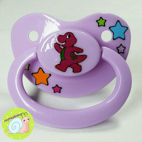 Barney Themed Printed Vinyl Adult Pacifier
