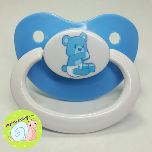 Lils Bear Printed Vinyl Adult Pacifier