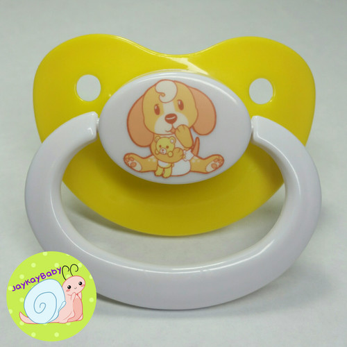 Lils Puppy Printed Vinyl Adult Pacifier