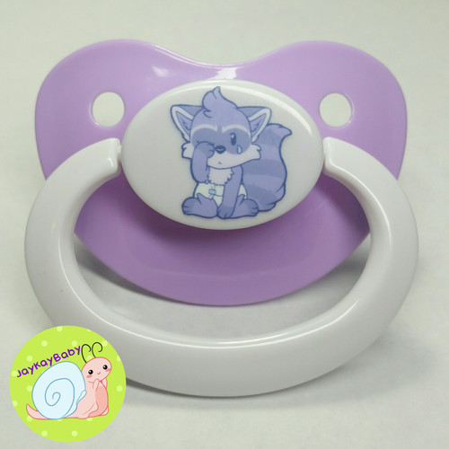 Lils Raccoon Printed Vinyl Adult Pacifier