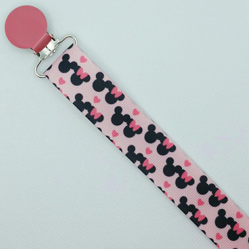 M. Mouse Love Adult Pacifier Clip