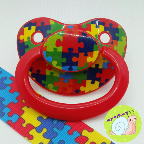Puzzle Piece Adult Pacifier