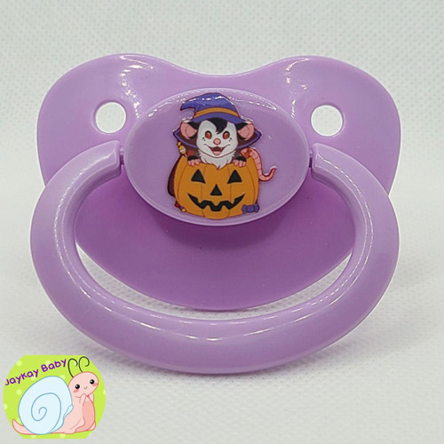 Lils Pumpkin Possum Printed Vinyl Adult Pacifier