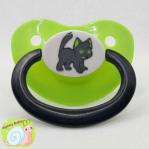 Lils Black Cat Printed Vinyl Adult Pacifier