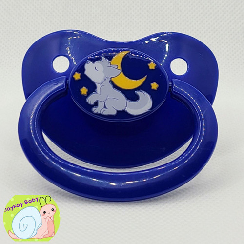 Lils Wolf Printed Vinyl Adult Pacifier
