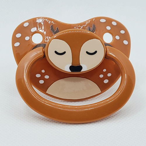 Fawn Printed Vinyl Adult Pacifier