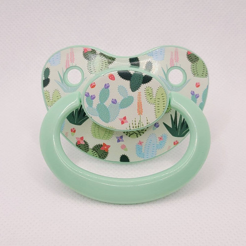 Succulent Printed Adult Pacifier