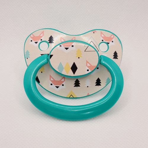 Geometrical Fox Printed Adult Pacifier