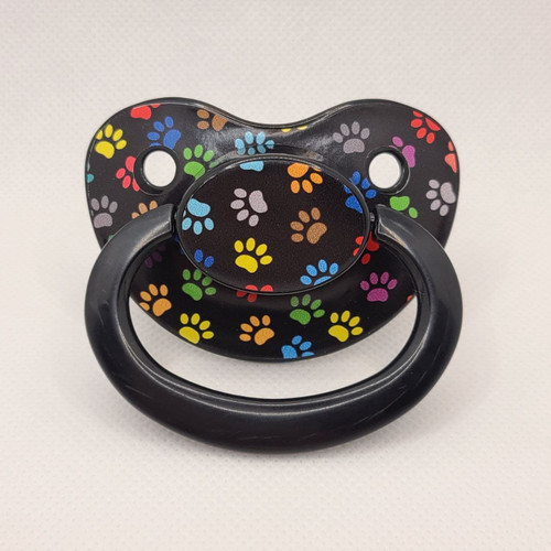 Colorful Paw Prints Printed Adult Pacifier