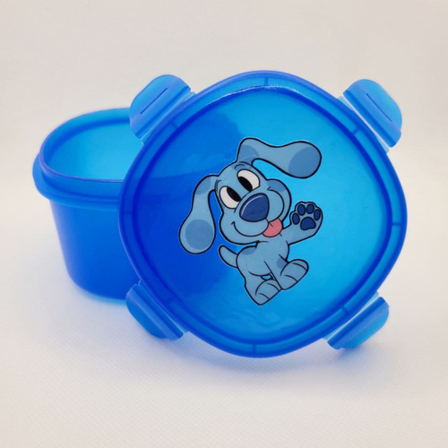 Blue Puppy Adult Pacifier Storage Container