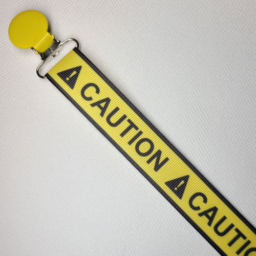 CAUTION Adult Pacifier Clip
