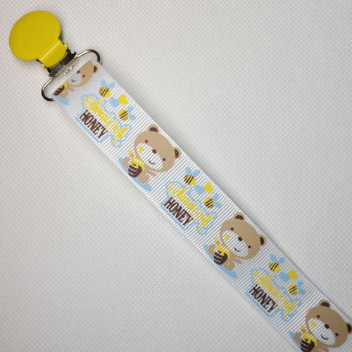 Sweet As Honey Bear Adult Pacifier Clip