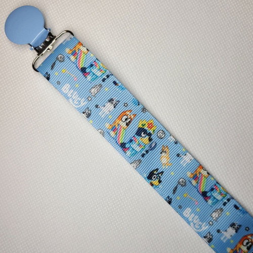 Bluey Blue Adult Pacifier Clip