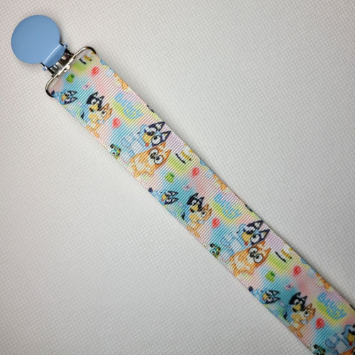 Bluey Pastel Adult Pacifier Clip