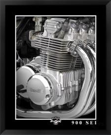 Benelli 900Sei motorcycle framed art print fine art by EFX Gallery photographer Daniel Peirce
