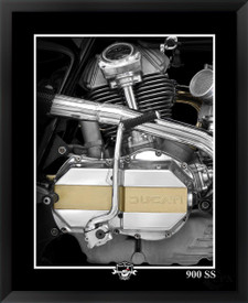 Ducati 900SS motorcycle fine art print by EFX Gallery photographer Daniel Peirce. Color changing motorcycle framed art giclee.