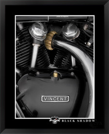 Vincent Black Shadow Motorcycle Engine by Daniel Peirce