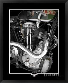 BSA Blue Star fine art motorcycle print by EFX Gallery photographer Daniel Peirce