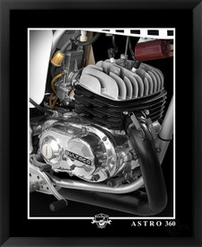 Bultaco Astro 360 motocross bike fine art print by EFX Gallery, photographer Daniel Peirce