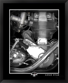 BSA Gold Star motorcycle framed fine art print by EFX Gallery photographed by Daniel Peirce